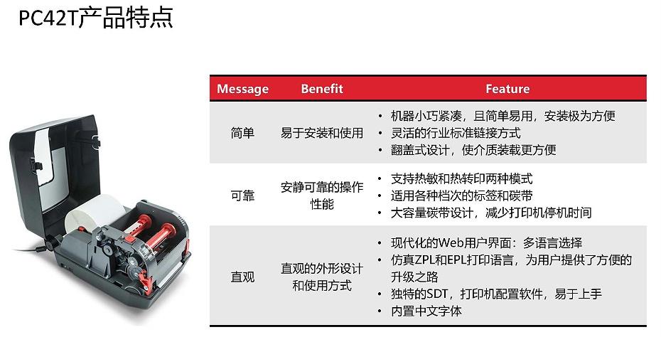 霍尼韦尔PC42T打印机产品介绍2